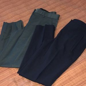 theory slacks size 00 set of 2